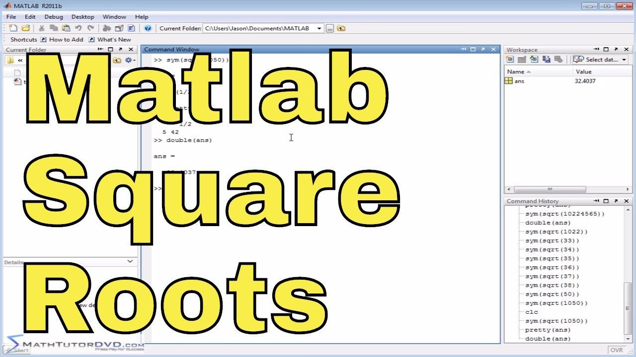 Matlab Online Tutorial - 15 - Factorial, Square Roots, and nth Roots