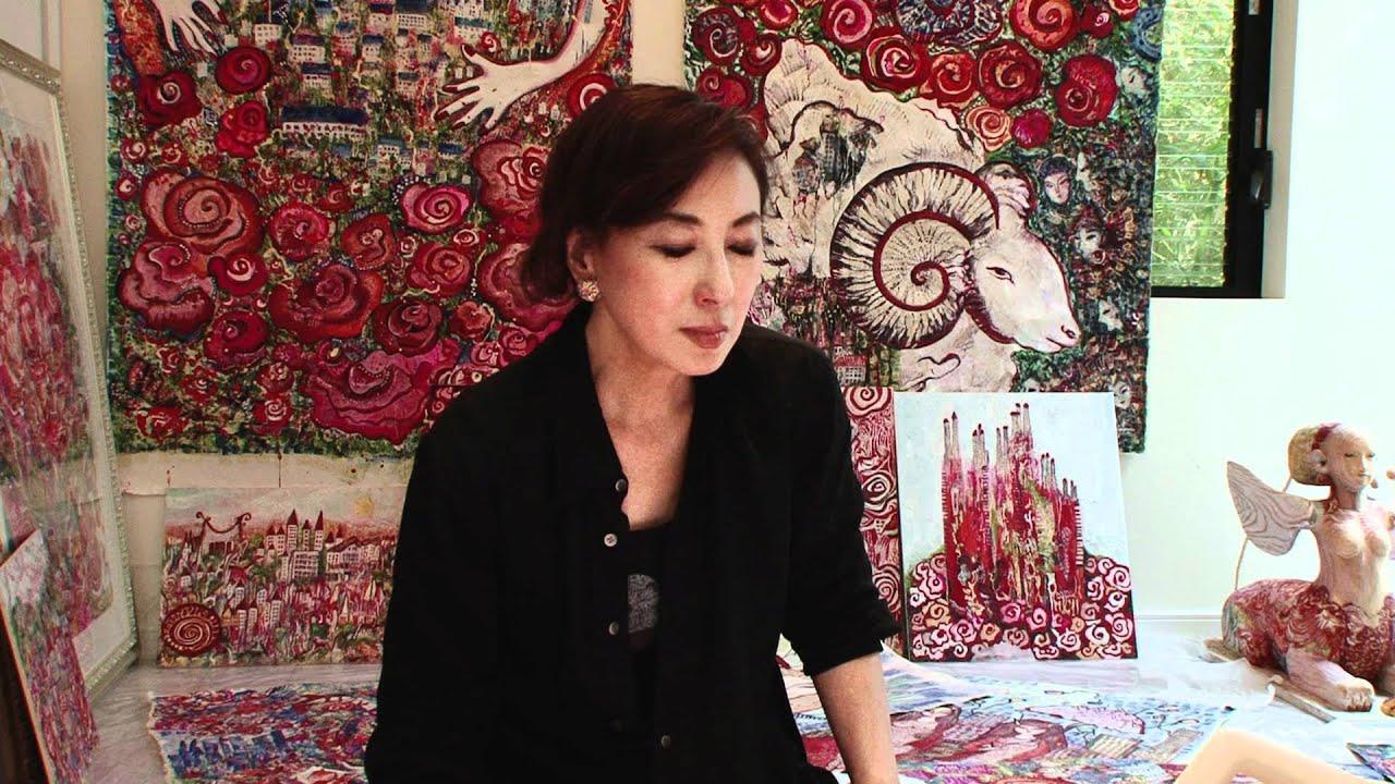 Bunkamuraギャラリー「蜷川有紀絵画展 薔薇都市」蜷川有紀インタビュー