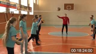 Урок физической культуры по волейболу в 5 классе. Учитель Пивоваров Евгений Васильевич