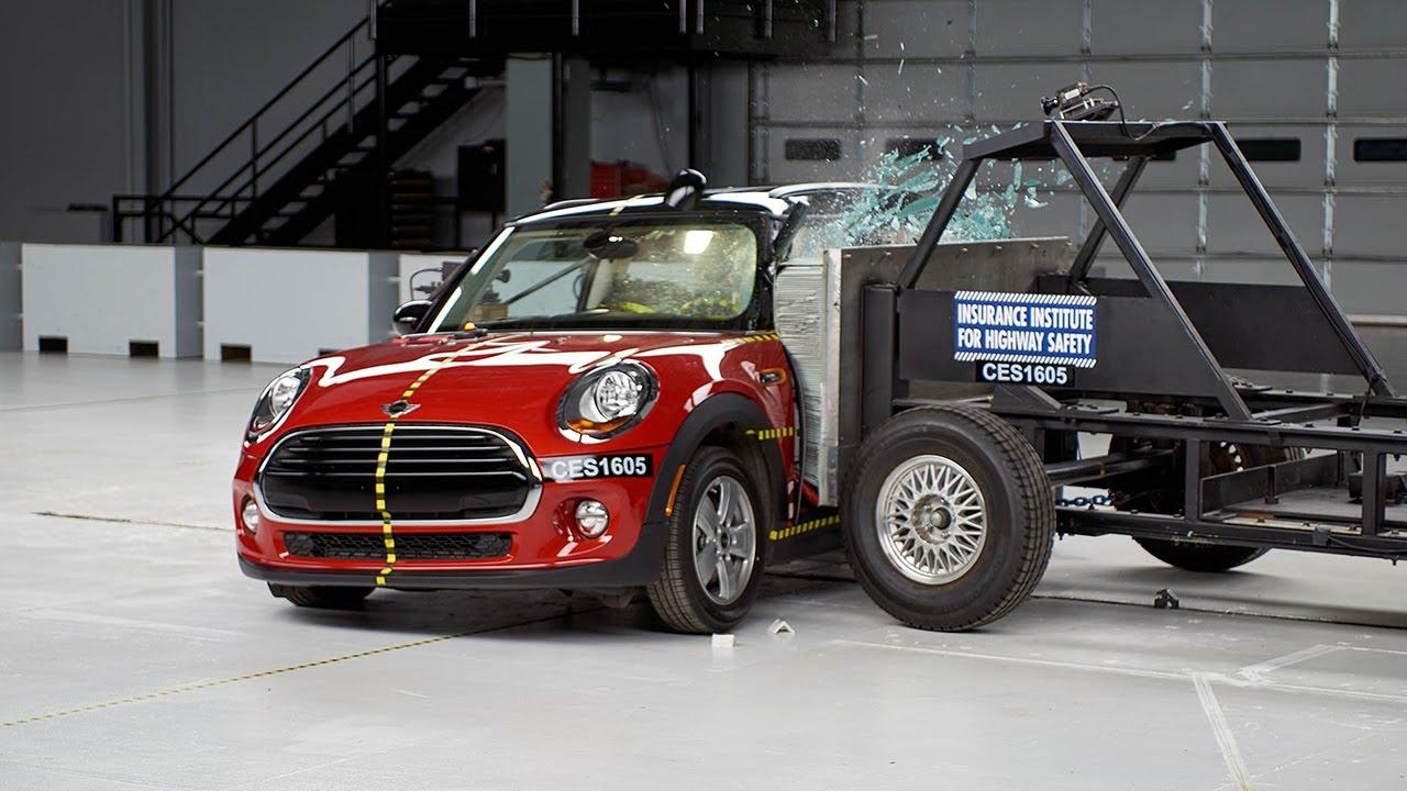 2016 Mini Cooper Side Iihs Crash Test