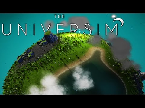 Universim - A God Simulator, What Would You Do As God of a Planet? - Universim Alpha Gameplay Part 1