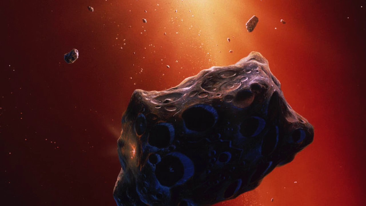 blue asteroid astronomers get closeup look at bizarre - 1280×720