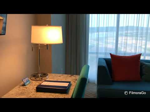 King room at the River Spirit Hotel Casino Tulsa OK