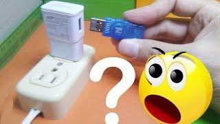 Mira que pasa si conecto una memoria USB a un cargador de celular!