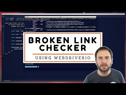 Check Broken Links in WebdriverIO
