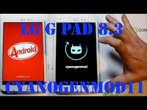 LG G Pad 8.3 CyanogenMod 11 android 4.4.2 KitKat install and review