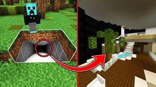 Minecraft: Modern Secret Base Mansion Tour! | World's Coolest Underground House!