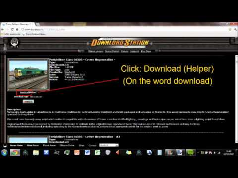 How to use the Trainz Download Station