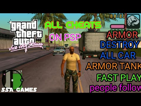 GTA Vice City Stories All Cheats Secrets .playing On Psp