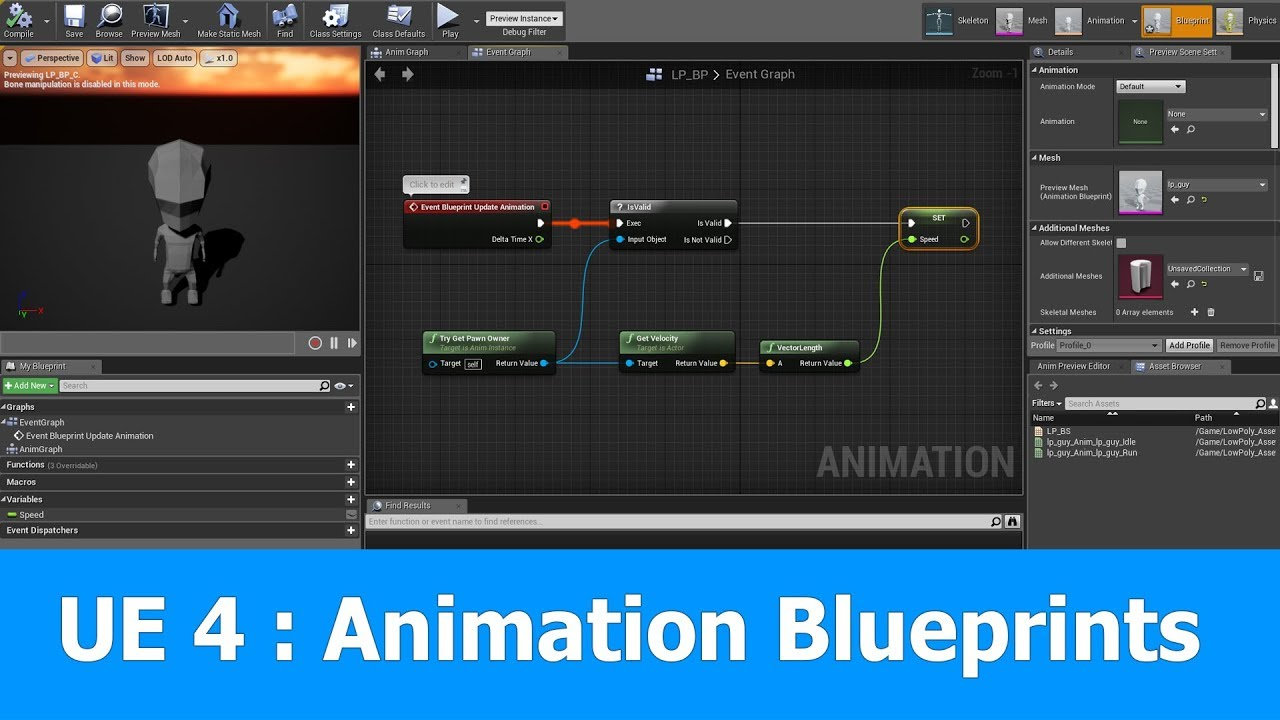Unreal engine animation blueprint tutorial youtube unreal engine animation blueprint tutorial malvernweather Gallery