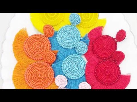 Tassel earrings // How to Make Tassel Earrings With Silk Thread // DIY Tassel Earrings // Earrings