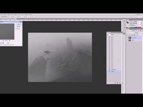 Tut Photoshop# Photoshop tutorial   Fantasy landscape