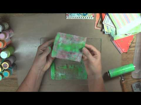 18x24 Scrap Collage Part 29 - Gelli Printing Journal Pages