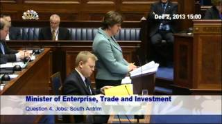 Question Time: Enterprise, Trade and Investment Monday 2 December 2013