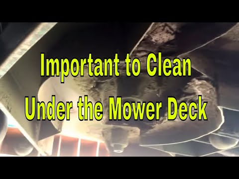 Zero Turn Maintenance - Important to Clean Under the Deck