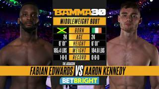 BAMMA 30: Fabian Edwards vs Aaron Kennedy