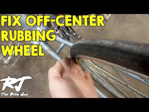 Fix Rear Bike Wheel - Off Center/Rubbing Frame