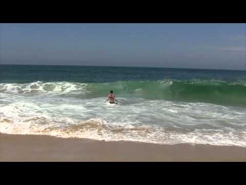 Dans les vagues de l'Atlantique !