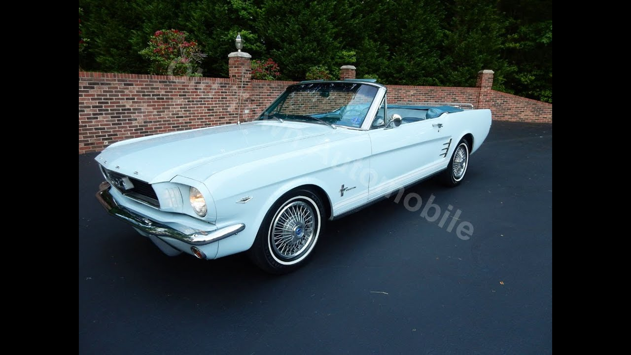 1966 Ford Mustang Convertible, light blue, for sale Old Town ...