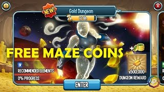 Free Superhero Maze Coins From Gold Dungeon on Monster Legends