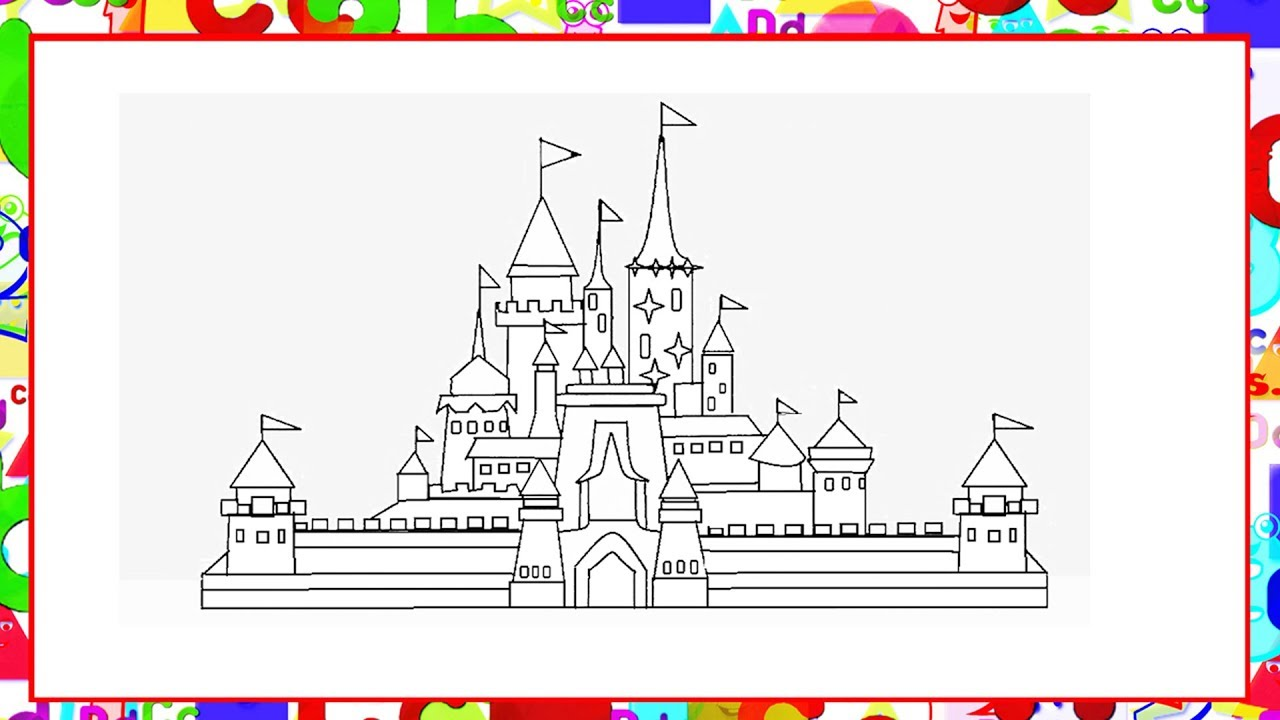 How To Draw Castle In MS Paint