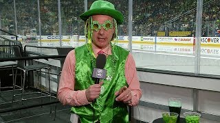 Gene Principe gets into the St. Patrick's Day spirit for pregame report