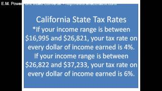 California State Tax Rates 2010, California State Tax Brackets 2010