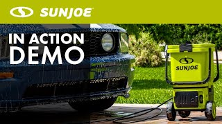 24V-X2-PW1200 - Sun Joe 48-Volt ION Cordless Portable Pressure Washer - Live Demo