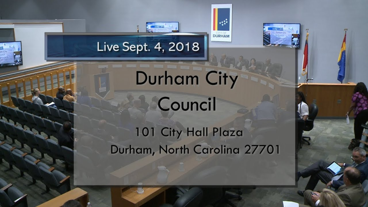 Durham City Council Sept 4 2018 Youtube