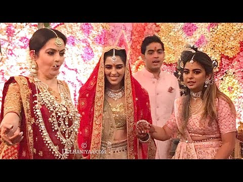 LIVE Inside Video of Mukesh Ambani's Son Akash Ambani & Shloka Mehta's MARRIAGE Ceremony In Antilla