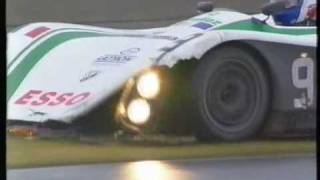 1995 - Le Mans - A Lister Storm spin in the wet and a WR accident
