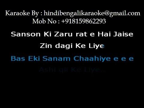 Ek Sanam Chahiye - Karaoke - Aashiqui (1990) - Kumar Sanu