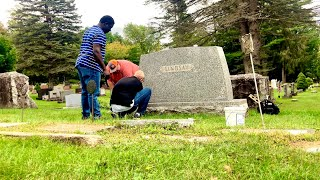 Re setting a huge Gravestone. (How its Made)