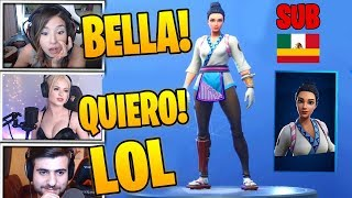 Streamers react to *NEW SKIN* MAKINA (MAKI MASTER) ''IS VERY BEAUTIFUL'' - Fortnite