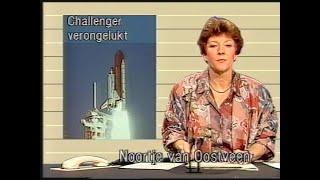 Nos journaal fragmenten - Challenger ramp 1986