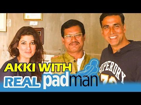 Akshay Kumar MEETS The Real PADMAN - Arunachalam Muruganantham