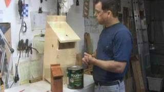 Making An Owl Box : Part 5 : Staining & Waterproofing