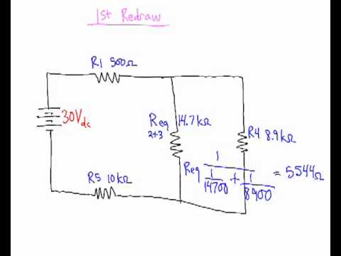 solving series parallel circuits - YouTube on series parallel speaker wiring calculator, batteries in parallel diagram, series circuit diagram, series and parallel electrical wiring, series vs. parallel subwoofer diagram, parallel circuit diagram,