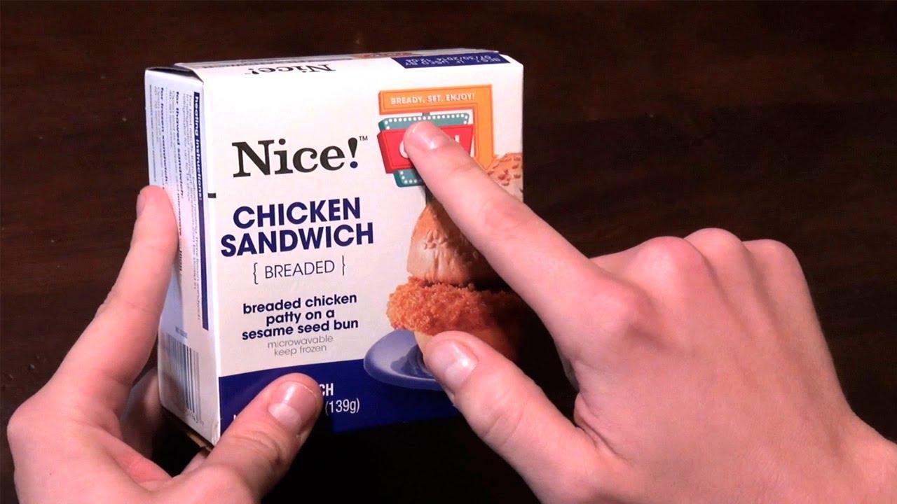 Unboxing Nice Brand Chicken Sandwich - YouTube