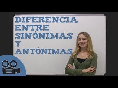 Diferencia Entre Las Palabras Sinónimas Y Antónimas