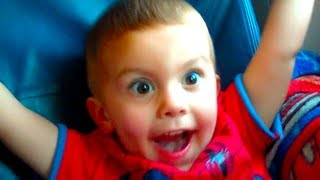 Kid Freaks Out On 1st Plane Ride!