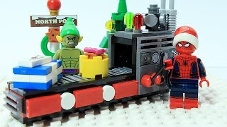 Lego Spider-man and Hulk Brick Building with Friends - Jingle Bells Christmas Songs Medley