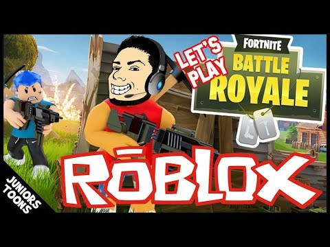 ROBLOX FORTNITE BATTLE ROYALE | Can We Get 1st Place | JUNIORS TOONS