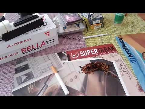 Набивка сигаретных гильз трубочным табаком