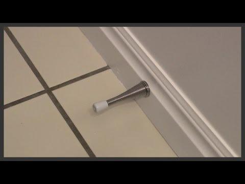 Spring Door Stop Replacement   YouTube