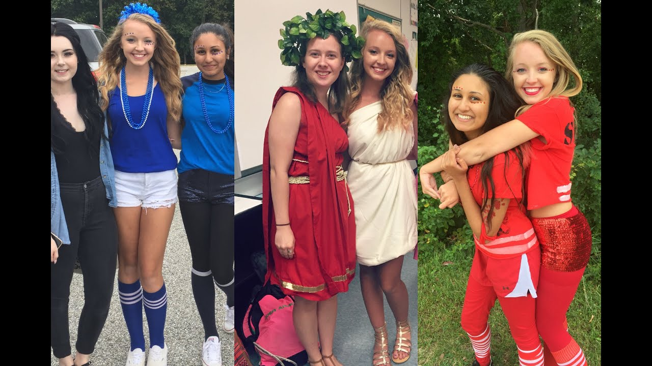 SPIRIT WEEK OUTFITS OF THE WEEK 2015! - YouTube