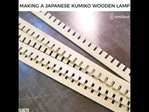 Making A Japanese Kumiko Wooden Lamp Credit: FLOG7D