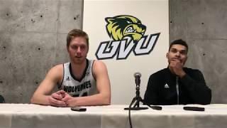UVU F Zach Nelson passed 1,000 career points in CBI