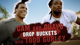 Cam & Quavo Drop Buckets 🏀 with Todd Gurley