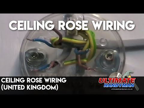 Ceiling Rose Wiring United Kingdom Youtube